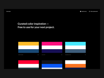 Colorinspire.io color schemes color palette color palettes color combinations ales nesetril responsive webdesign grid made in webflow one page layout one-page one page colorful color inspiration webflow colorinspire inspiration colors