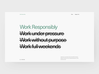 Work Responsibly - About