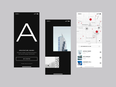 Onboarding Flow Transitions posters onboarding flow discover onboarding screens onboarding ui buildings typography ui typography after effects transition experiment ales nesetril strv ask permission location art architecture transition screen transition flyby onboarding