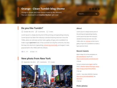 Clean Tumblr blog PSD theme