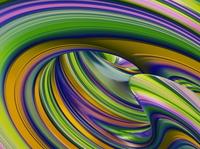 Abstract Composition #11, Blender3D waves torus foliage lraves blender3dart blender3d