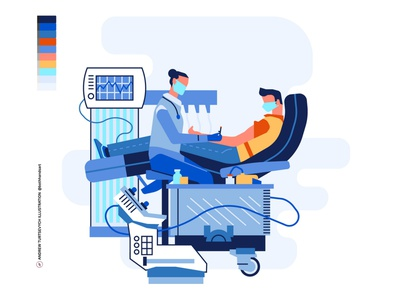 Patient on doctor appointment, vector illustration appointment concept woman medical health medicine probe test safety quarantine virus treatment patient doctor covid-19 vector illustration art flat minimalism