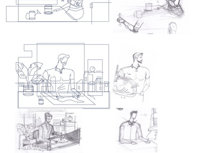 atBionic Hand  resize flat illustration flat horse artist man biotech disability hand hand drawn bionic illustration minimalism