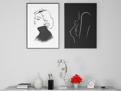 Wall Decoration 3D Design with Personal Art