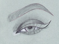 Sketching an Eye for Vector Illustration