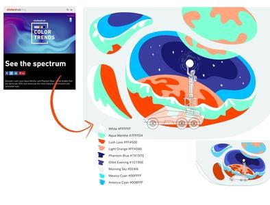 Work in Progress: Shutterstock Color Trends 2020 in Web Design