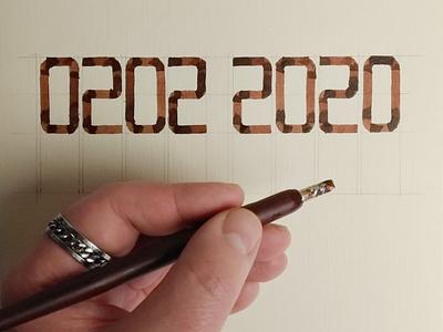 Dedicated to Groundhog Day: Number of Changeling illustration design calligraphy minimalism