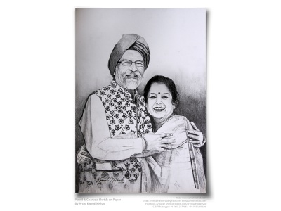 AGELESS BLISS - Pencil & charcoal sketch by ARTIST KAMAL NISHAD sketchart gift for loved ones artist kamal nishad artwork portrait sketch kamal nishad kamalnishad charcoal drawing pencil drawing portrait art charcoaldrawing pencil art pencil sketch sketch