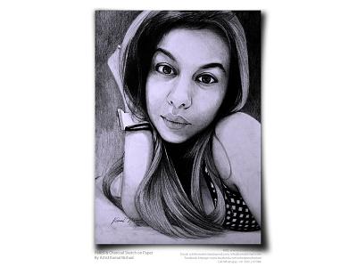 REMARKABLE - Pencil & charcoal sketch by - ARTIST KAMAL NISHAD beautiful girl portrait girl illustration girl artwork pencil art artist kamal nishad portrait sketch kamal nishad portrait art pencil drawing charcoal drawing pencil sketch kamalnishad