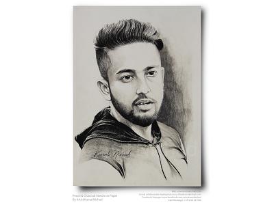 A HANDSOME GUY -Pencil & Charcoal Sketch by Artist Kamal Nishad portrait sketch portrait art sketchart handsome boy charcoal drawing pencil drawing pencil sketch pencil art hand drawn sketch sketch kamalnishad