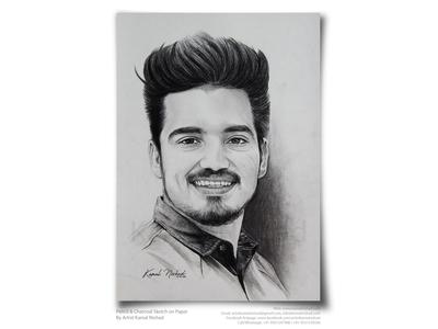 A Handsome Birthday Boy -Pencil Sketch by Artist Kamal Nishad