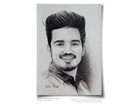 A Handsome Birthday Boy -Pencil Sketch by Artist Kamal Nishad