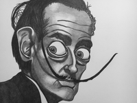 Caricature of Salvador Dali