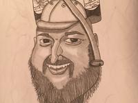 Caricature of Uncle Lauren