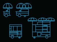 hot dog cart icons