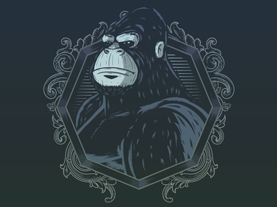 Noble Animal debut digitaldrawing illustration noble calm animal gorilla