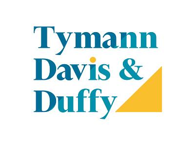 Tymann, Davis and Duffy law firm logo law firm lawyers lawyer logo identity logodesign brand design brand identity vector logo design print graphic designer print design digital logo graphic  design branding design brand