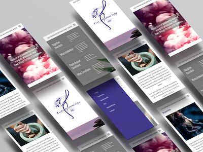 Zaley Acupunture Website graphic  design layout responsive design website design logo branding