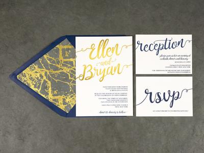 Ellen & Bryan Wedding Invitation