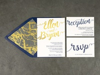 Ellen & Bryan Wedding Invitation