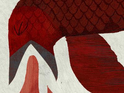 Aeronausiphobia phobia bird vomit red texture