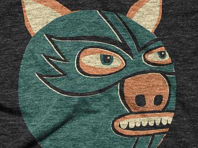 ¡El Puerco! t-shirt pig wrestling mask luchador lucha libre