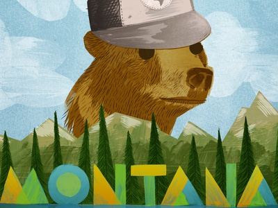 Montana bear grizzly symbol state