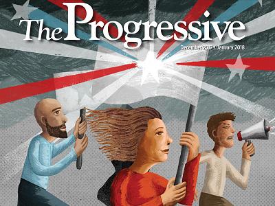 The Progressive cover resist activism illustration cover progressive