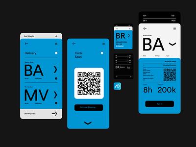 AYOTIC™ Logistics Branding ui concept uxdesign uidesign logo brandingbrand digital smart app logistics