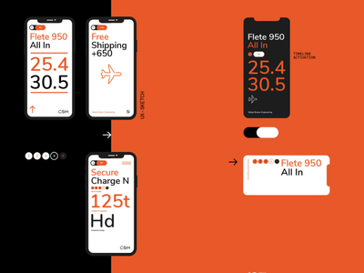 C&M™ Global Broker Engineering Branding delivery shipment conceptual uxdesign uidesign app smart orange engineering logistics