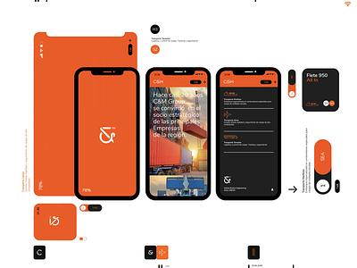 C&M™  Global Broker Engineering Branding graphic design brandingart conceptual uxdesign uidesign smart digital app logistics shipment platform engineering