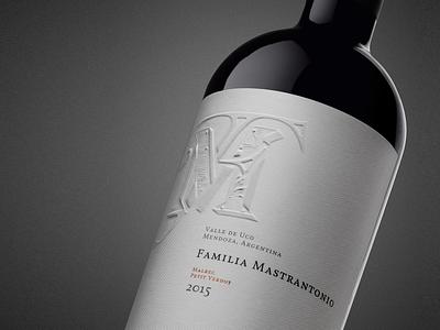 Familia Mastrantonio Wine Branding & Packaging family tradition graphic design art design label box concept logo branding drink argentina pack envelope packaging wine