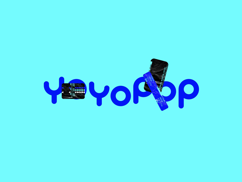 YOYOPOP™ DIGITAL ANIMATION BRANDING trendy trendy logo geometry blue graphicdesign design engagement friendly typogaphy logo branding conceptual
