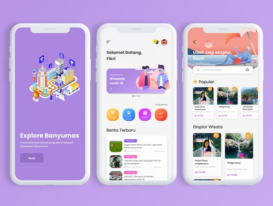 Explore/Smart City Mobile App app figma ux design ui design mobile design mobile app clean ui clean smart city exploring explore travel app travel news app category 2020 design 2020 trend