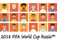 2018俄罗斯世界杯足球明星