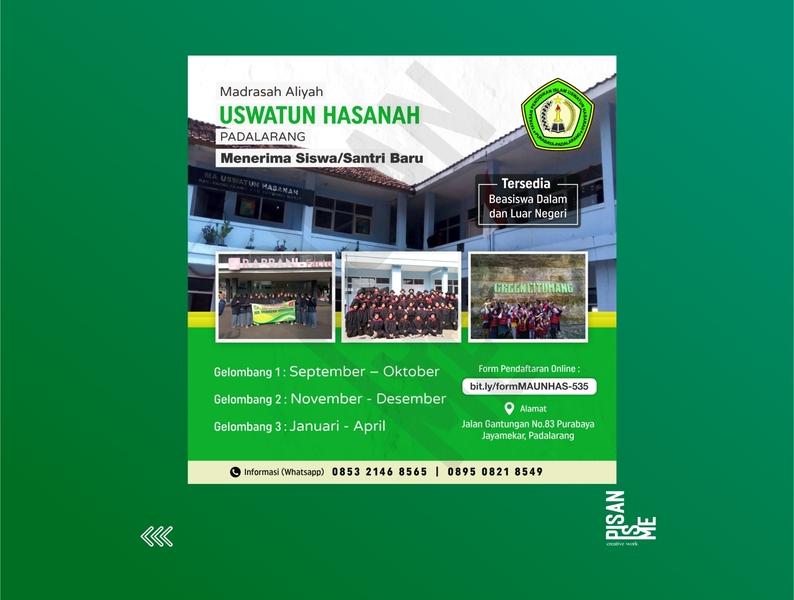 Portofolio Poster Digital Promo Madrasah Aliyah Uswatun Hasanah design branding graphic  design