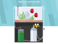FW Tanks Aquarium Illustration