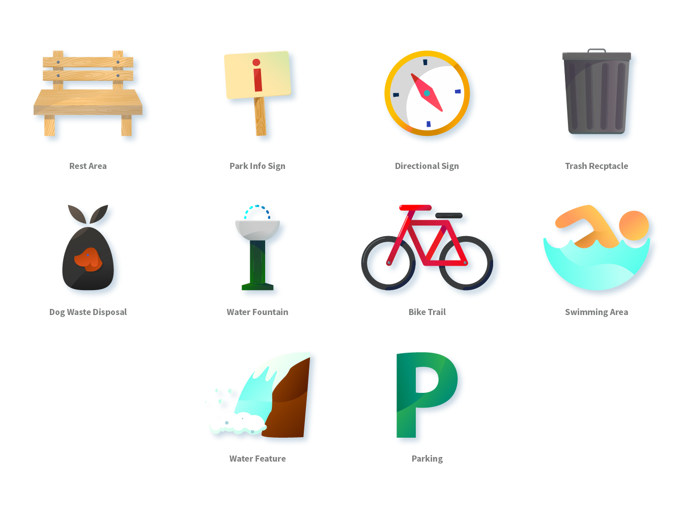 Bull Creek Park App Icons design illustration app icon illustration art ui