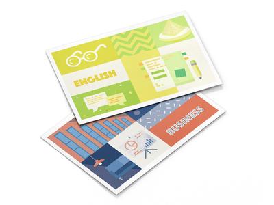 University Postcard Design university stationery product design product branding postcard mockup life illustration art graphic design graphic gift card colourful card art card illustration design branding