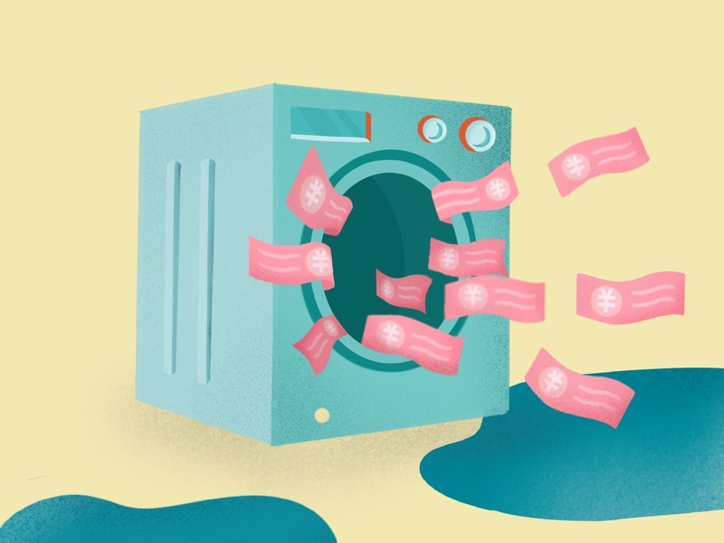 Money Laundering digitaldesign digitalart laundry financial finance money illustration design