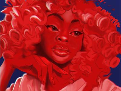 Red Gyrl procreate art procreate illustration digitalart