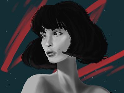 Girl Portrait girl character portrait procreate art procreate illustration digitalart