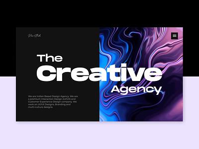 Neon Studio Website ui art landing page ui landing page hero section design studio creative ui and ux typogaphy minimal ui branding design