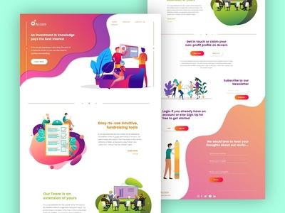 Accern Webpage Concept