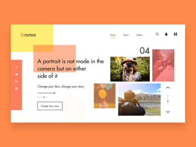 Qromos Photo Gallery Website Concept