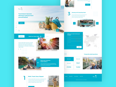 SkyHigh Tours and Travels Website Concept