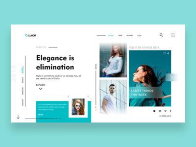 Luxor Fashion Blog Website Concept