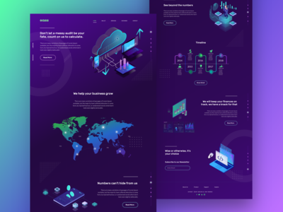 Oasis Stock Market Analysis Website Concept