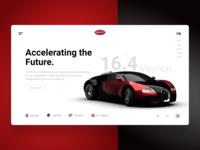 Bugatti Webpage Concept