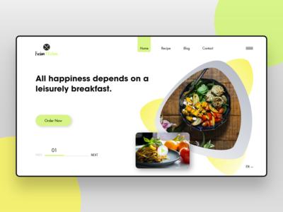 Fusion Kitchen Webpage Concept